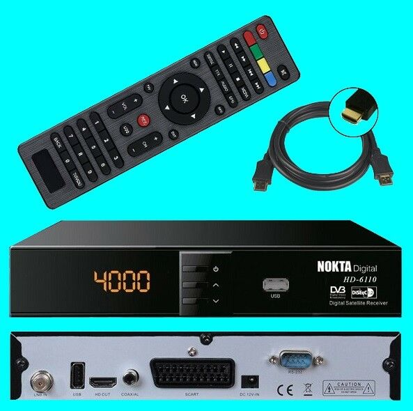HD SAT Receiver Nokta 6110 ✔ USB ✔ HDMI ✔ Scart ✔ DVB-S2 ✔ Digital ✔ Full HDTV