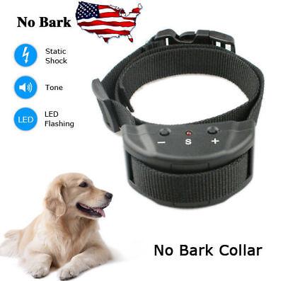 Anti Barking No Bark Dog Training Shock Collar For Medium Large 25-150lb Dog New