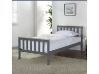 Woodford Wooden Bed Frame Grey & Pine - Single selling at £45 BNIB these are £79.99 to buy
