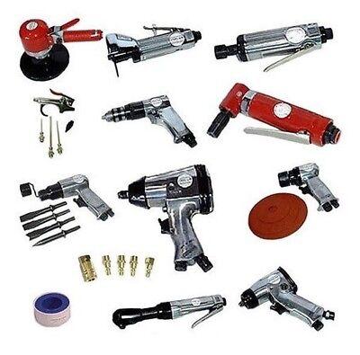 31 Pc Automotive Shop Pneumatic Steel Air Tool Drill Wrench Ratchet Bit Set Kit