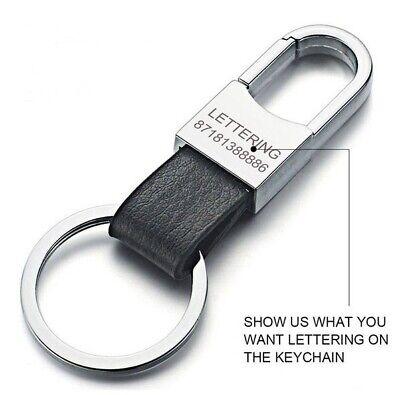 Custom Lettering Keychain Keyring Personalized Leather Car Vehicle Key tag - Keychain Personalized