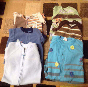 Baby Sleepers Fleece and Cotton 6 to 18 month old