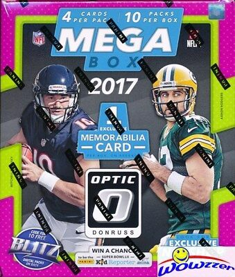2017 Donruss Optic Football HUGE 10 Pack MEGA BOX-Memorabili