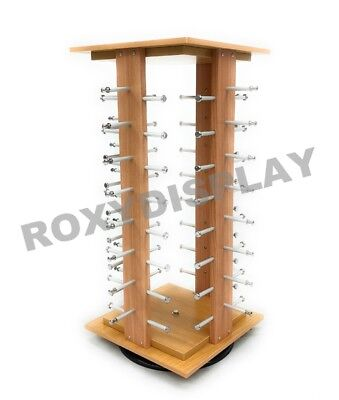 Sunglasses Racks Display Stand Case Square Wooden Spinning Rack Mz5050-4-su