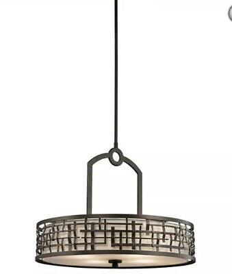 "Kichler Lighting Loom Transitional Pendant With Shade # KCH 43047 OZ Large 24"" W"