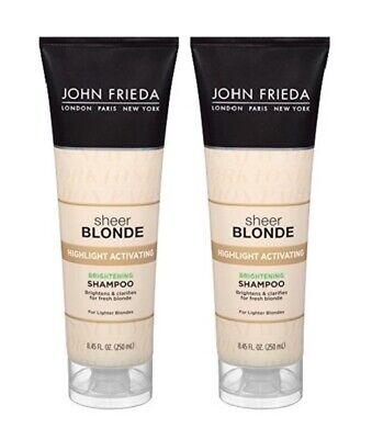 2x John Frieda Sheer Blonde Highlight Activating Brightening Shampoo, 8.45 oz -