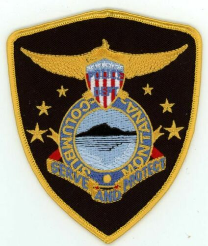 COLUMBUS MONTANA MT POLICE COLORFUL PATCH SHERIFF