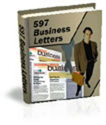 597 Proven Ready To Use Business Letters And Forms For Any Situation - (CD-ROM)