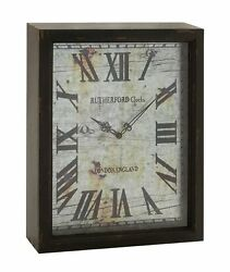 Rustic and Lovely Wood Wall Clock with Oversize Roman Numerals