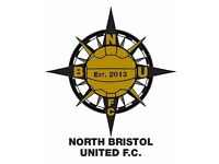 New footballers needed at North Bristol United FC for 2016/17 season!