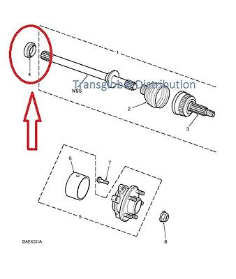 Land Rover Discovery 2 TD5 Front Axle Drive Shaft Oil Seal