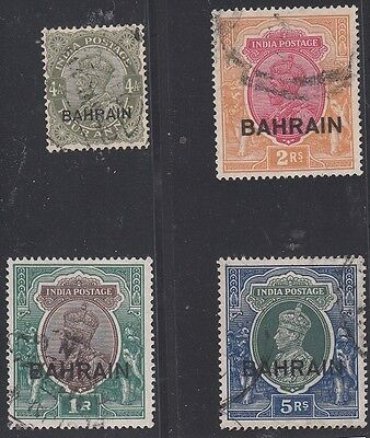 Bahrain Scott 9,12,13,34 Used (Catalog Value $127.50)