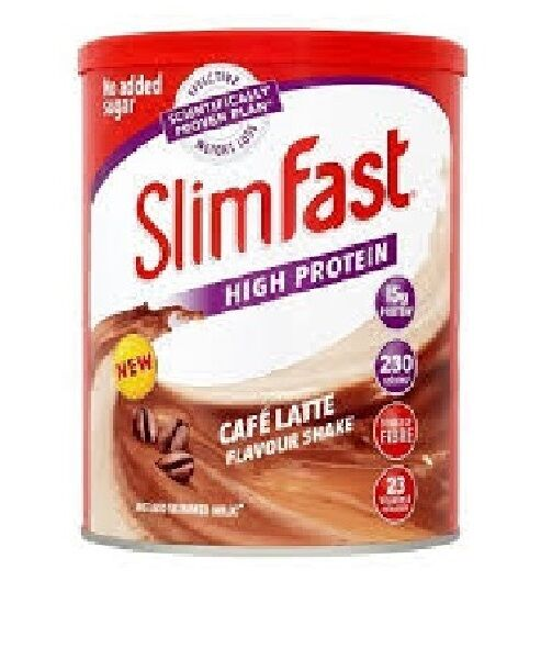 Slimfast Diet Powder Shake Weight Loss Replacement Meal Milkshake  CAFE LATTE