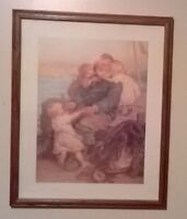 Great vintage framed print/picture just $20!  Approximate dimens