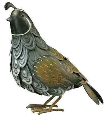 Quail Bird Metal Garden Yard Art Statue ...