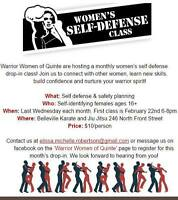 Women's Self Defense Drop in