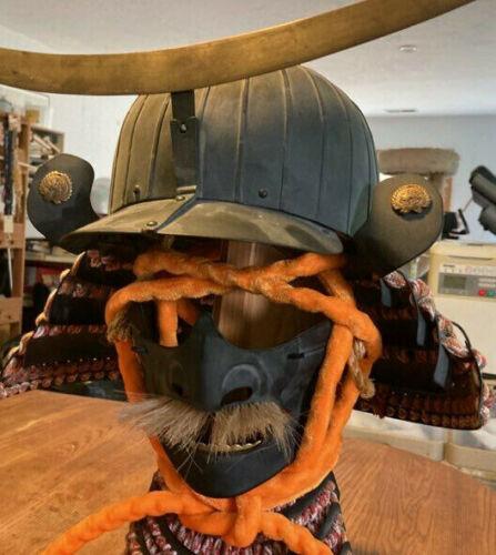 Japanese samurai helmet and mask