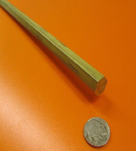 """360 Brass Hex Rod 9/16"""" Hex x 3 Ft Length"""