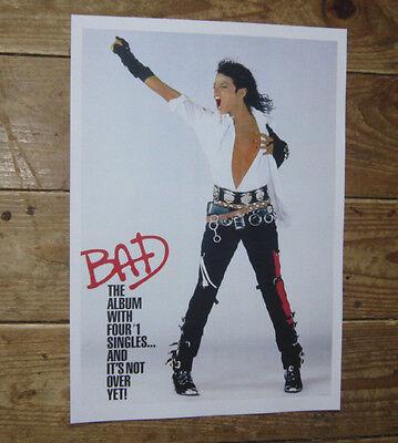 Michael  Jackson Five 5 BAD Repro Album POSTER