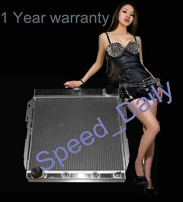 3 ROWS ALUMINUM RADIATOR FIT FORD Base Convertible 2-Door 57 Automatic