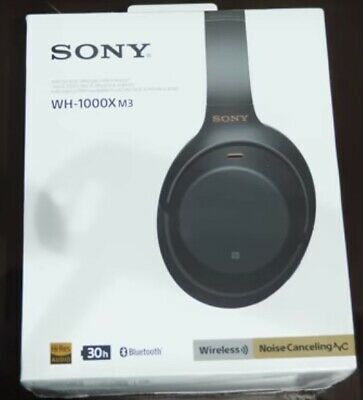 New Sony WH-1000XM3/B Over Ear Wireless Bluetooth Noise Cancelling Headphones