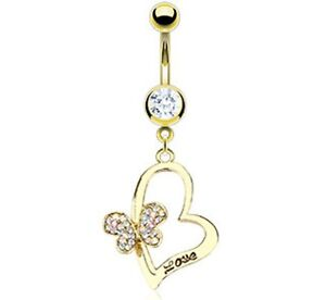 Gold-Plated-Love-Engraved-Heart-Belly-Bar-With-Gem-Paved-Butterfly