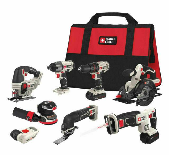 PORTER-CABLE 20V MAX Cordless Drill Combo Kit, 8-Tool Plus A