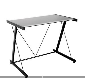 MOVING SALE! Office desk black with glass top