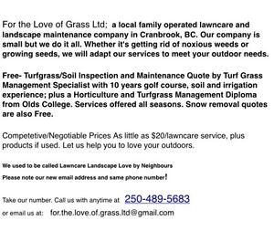 Hire us for all your lawncare needs.