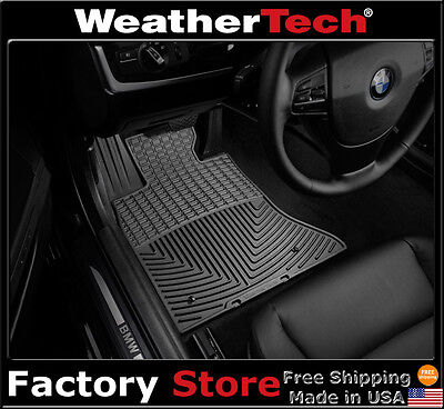 WeatherTech All Weather Floor Mats for BMW 5 Series   2014 2016   Black