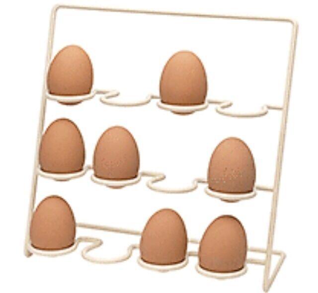 Pisa by Hahn 12 Egg Stand Rack in Cream, Aga Farmhouse Storage