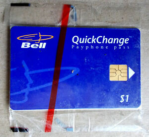 Bell QuickChange Payphone Pass, unused. $5 mailing included