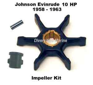 Johnson Evinrude 10 HP 1958-1963 Water Pump Impeller Service Kit
