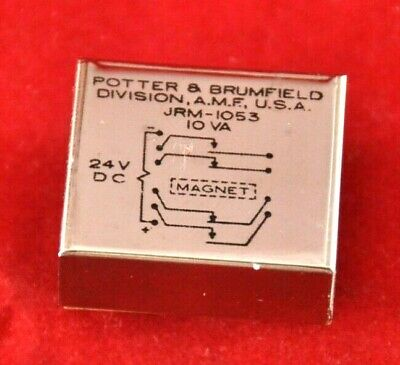 Potter Brumfield Jrm 1053 Relay 24 Volt Electromagnetic New Usa