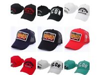 ICON and DSquared2 - Baseball Caps (9-25 Days DELIVERY) - RED, WHITE, BLUE, YELLOW, BLACK