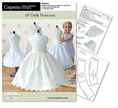Dolls Petticoat Crinoline Sewing Pattern fits 18 Inch Carpatina & American Girl®