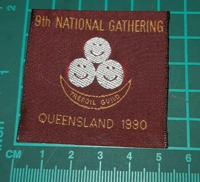 9th National Gathering Queensland 1990 Trefoil Guild Badge