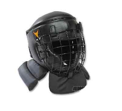 Kendo Padded Hear Gear Combat  Armor with Face Cage Sparring Boxing (Kendo Gear)