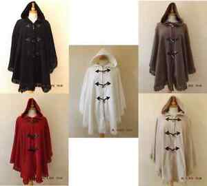 NEW-LADIES-FLEECE-HOODED-PONCHO-CAPE-SHAWL-PLUS-SIZE-16-32