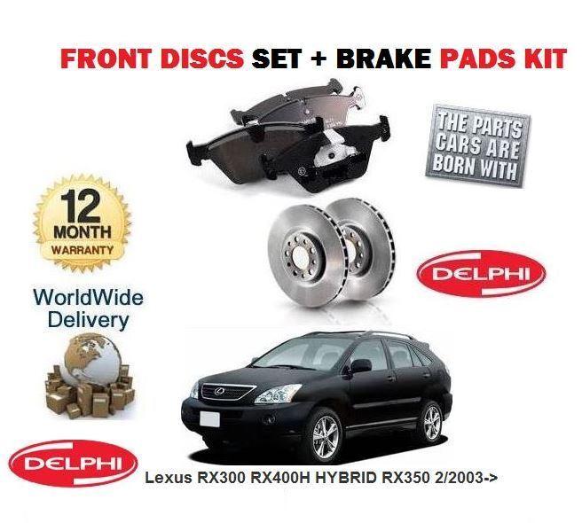 FOR Lexus RX300 RX400H HYBRID RX350  2/2003-> FRONT BRAKE DISCS SET &  PADS KIT