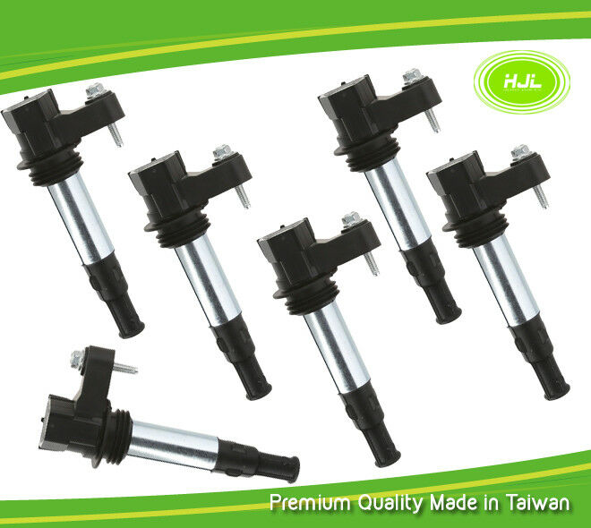 6PCS Set Ignition Coil For Traverse Allure Enclave Acadia CTS STS 3.6L 12629037
