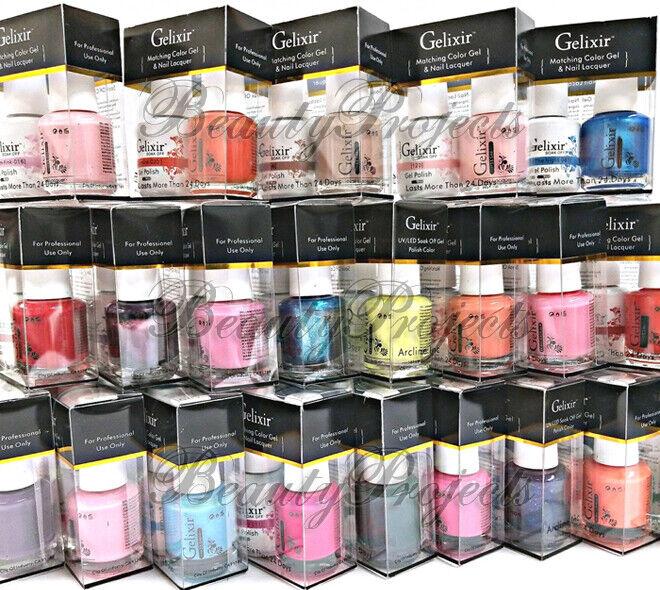 Gelixir Soak Off Gel Polish LED/UV .5oz Pick Your Color Matc