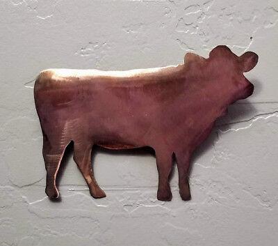 (Cow Copper Patina finish metal wall art decor )