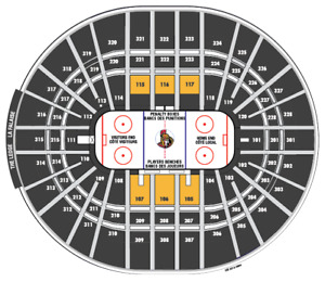 CLUB SEATS: OCT 21 - SENS vs LEAFS w/ Meal and Parking