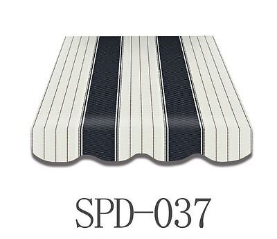 Markisenstoff Markisenbespannung mit Volant 3 x 2 m  Fertig genäht  NEU SPD-037