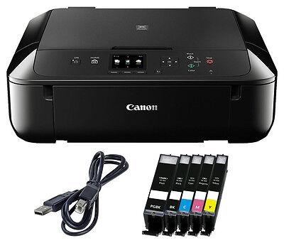 Set Canon Pixma MG 5750 DRUCKER SCANNER KOPIERER WLAN +5x XL TINTE + USB