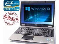 WINDOWS 10 HP Compaq 6730 FAST Laptop Core 2 Duo 4GB 500GB WEBCAM Warranty CHEAP