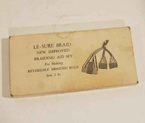 Vintage LE - SURE Braid Aid Rug Braiding Tool Set of 3 with Box and Instructions