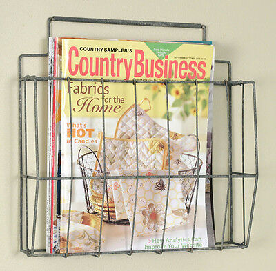 Vintage/Primitive/Farmhouse/Cottage/Antique Wire File Magazine Holder