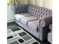 3 seater sofa in grey